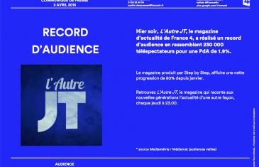Record d'audience pour L'Autre JT – Avril 2015